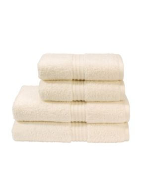 Christy Plush towels in cream