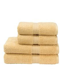 Plush towels in soft gold