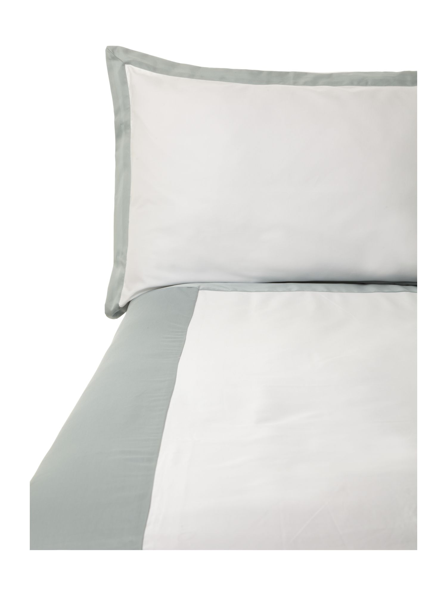 Oxford single duvet cover set duck egg