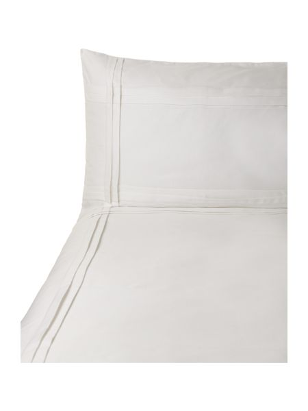 Luxury Hotel Collection Criss Cross Pleats superking duvetcover set white