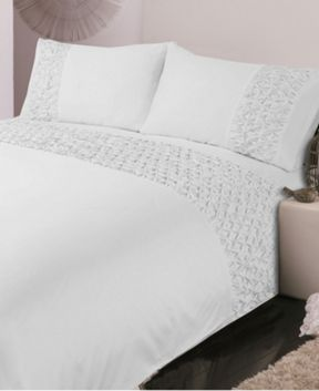 Luxury Hotel Collection 500TC Diamond pleats bed linen in white