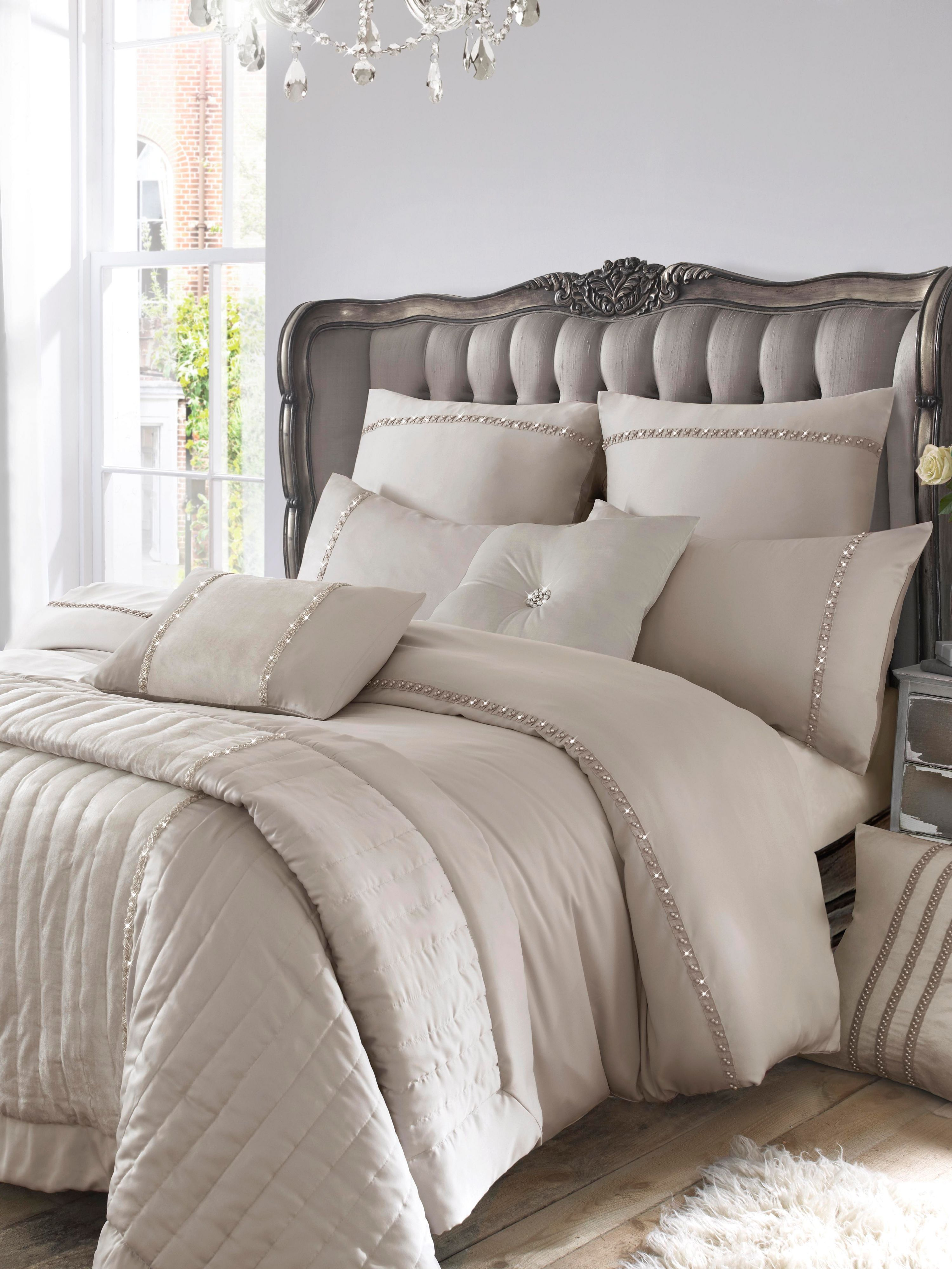 Pearl Pleat single duvet cover dove grey
