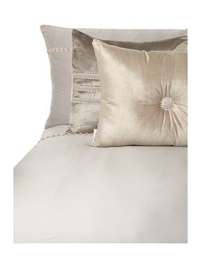 Kylie Minogue Pearl pleats bed linen in dove grey