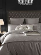 Kylie Minogue Allegra bed linen in grey
