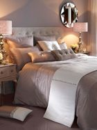 Kylie Minogue Ria shimmering bed linen in taupe