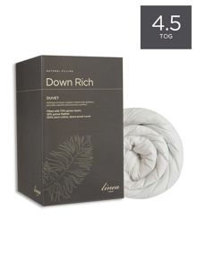 Down rich duvets 4.5tog