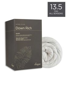 Linea Down rich all season duvets 13.5tog