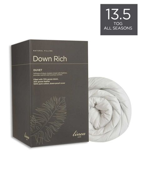 Linea Down Rich 13.5. tog AS single duvet