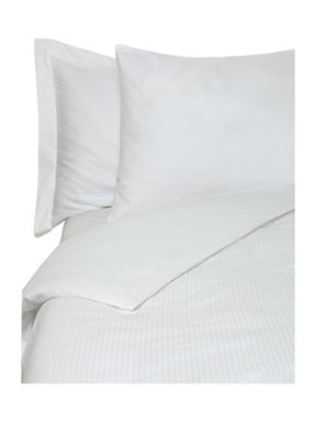 Luxury Hotel Collection Dobby stripe bed linen in white