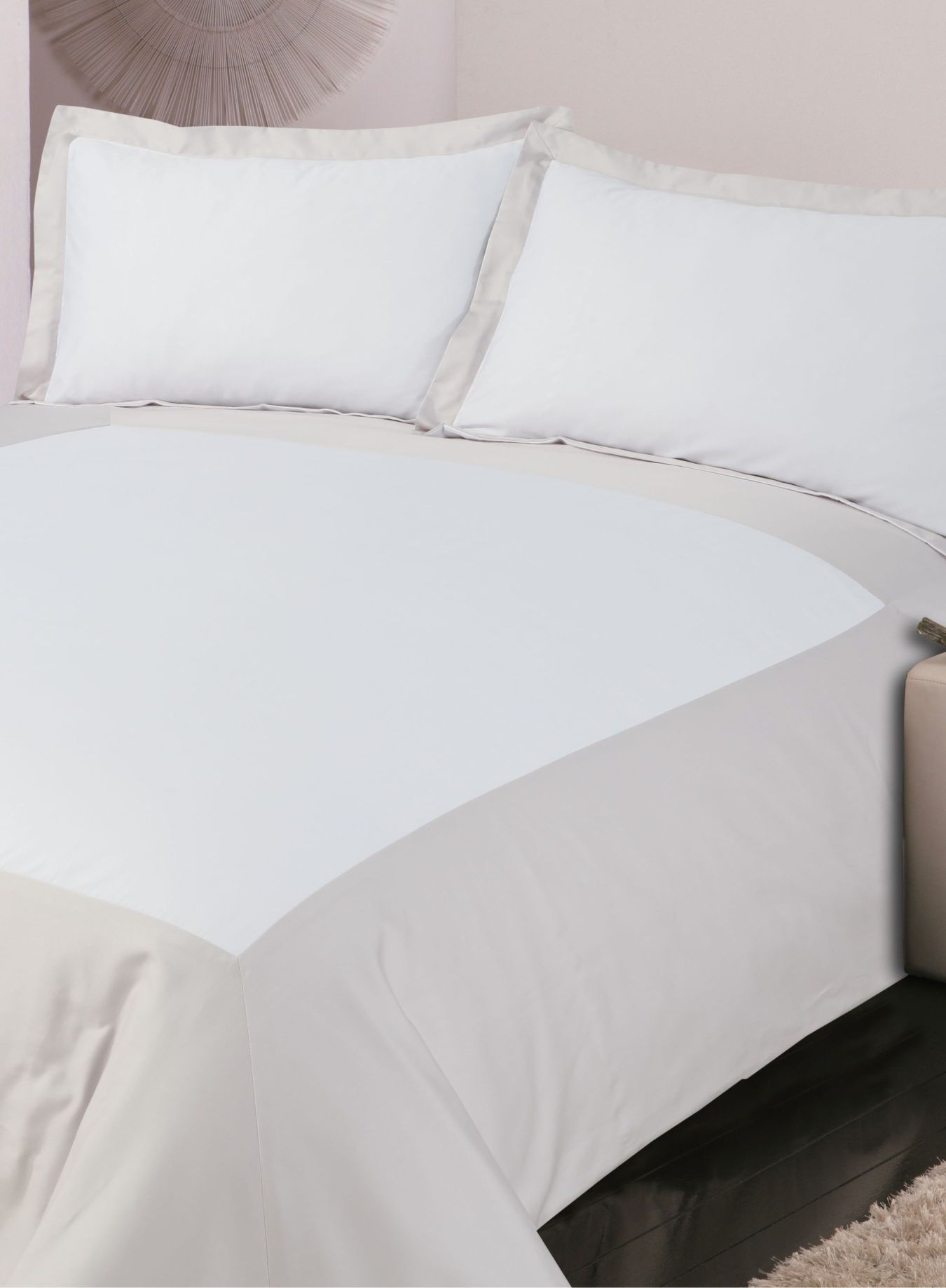 500TC Oxford bed linen in mauve
