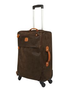 Life olive 54cm 4 wheel lightweight suitcase