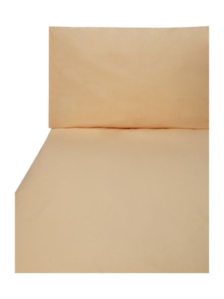 Linea 100% cotton single fitted sheet peach