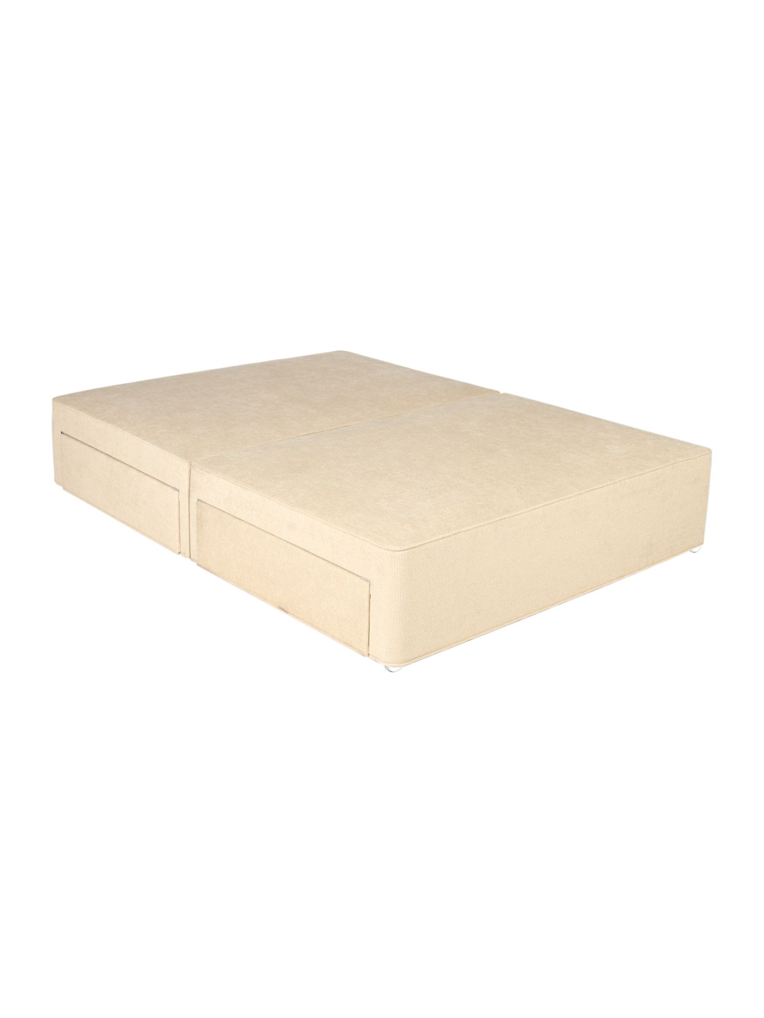 Cream sprung edge divan range 2 drawers