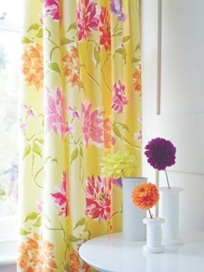 Bedeck Capri lined curtains in zest green