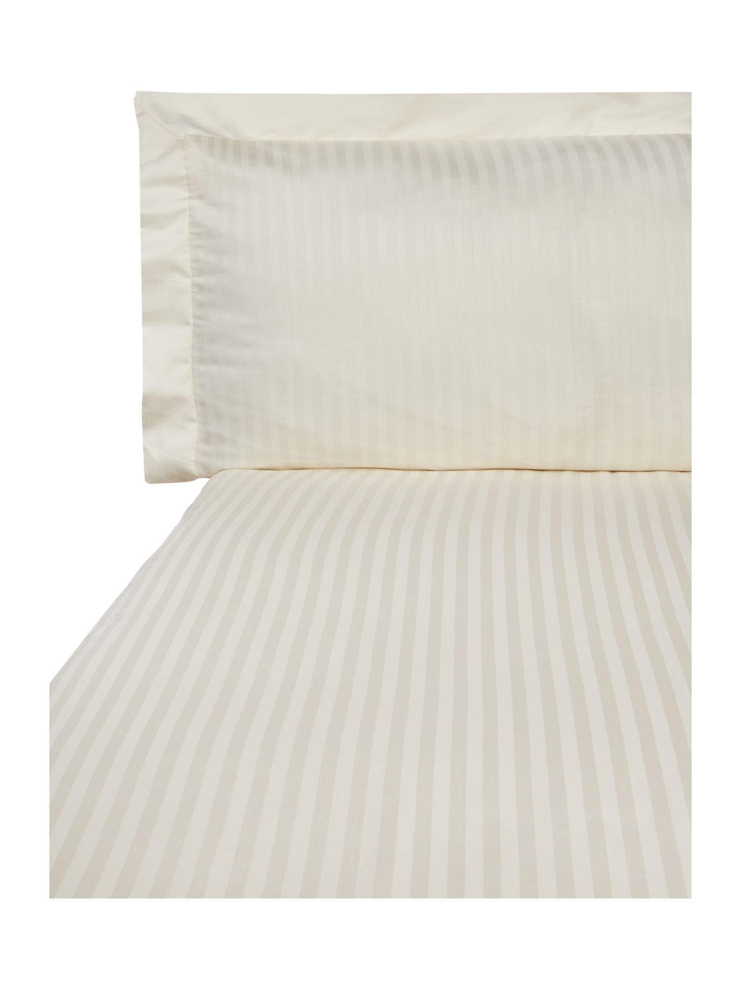 300TC Satin stripe bed linen in cream