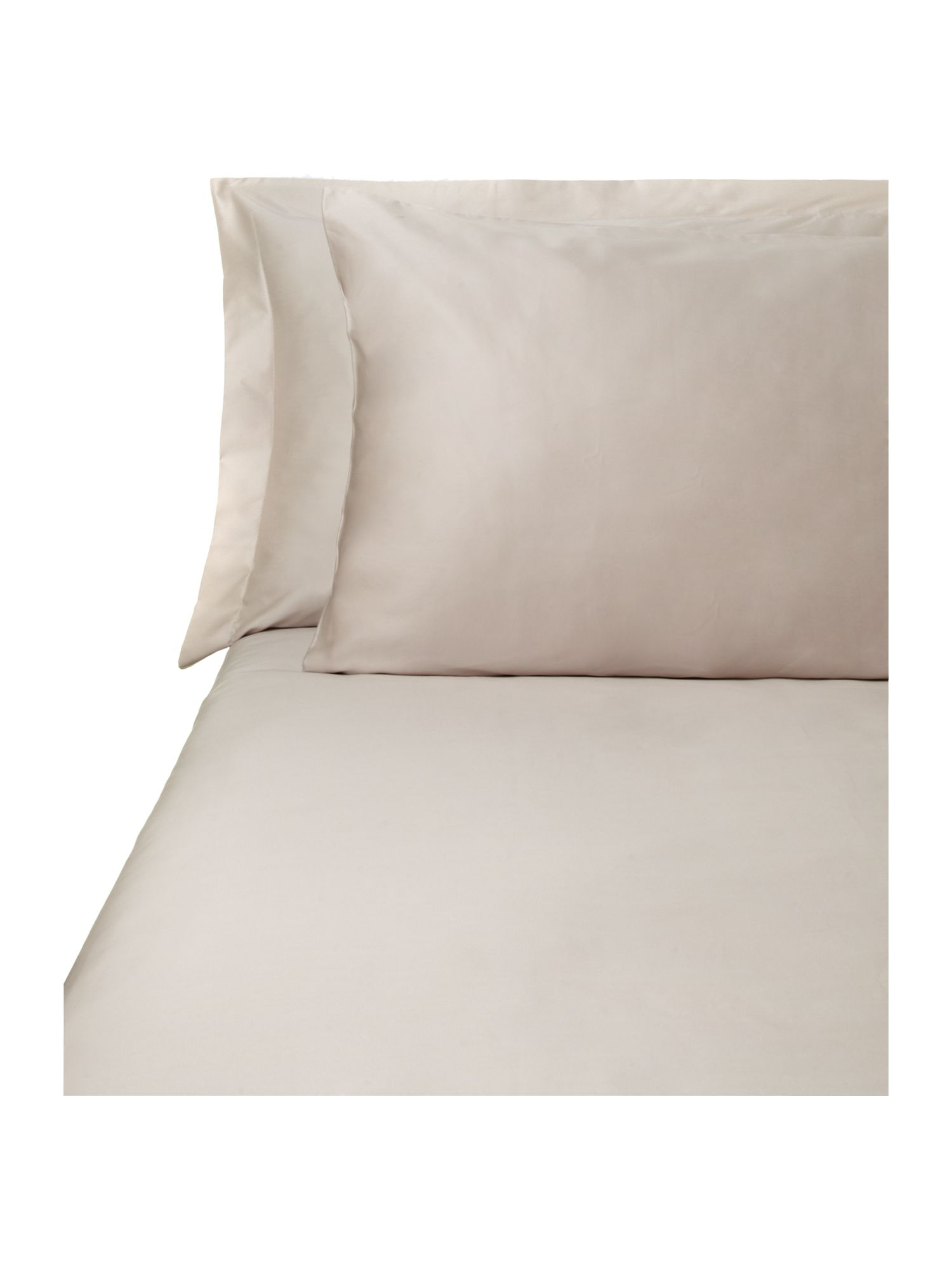 500 TC single fitted sheet pair taupe