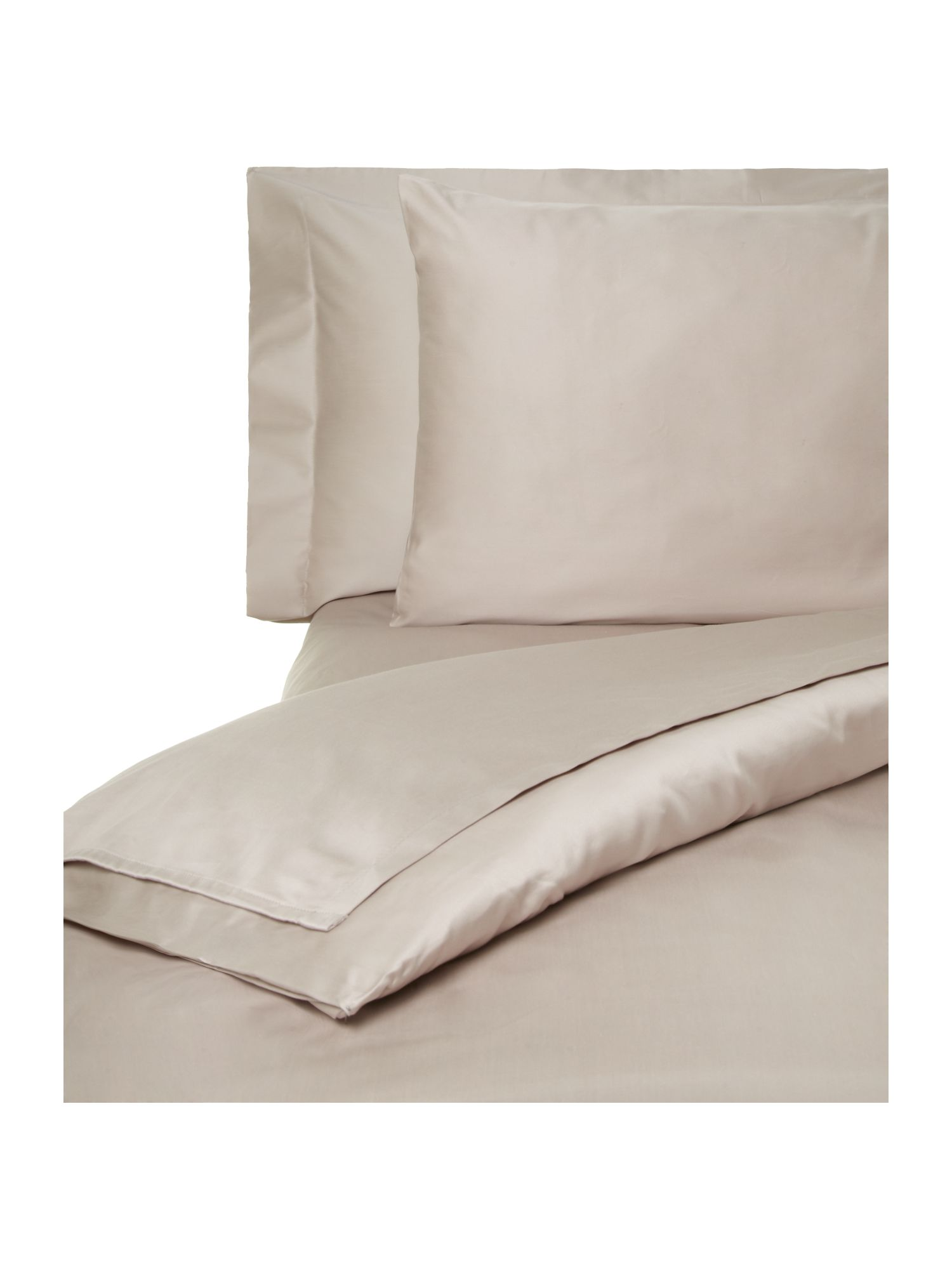 500TC luxury bed linen sheeting in taupe