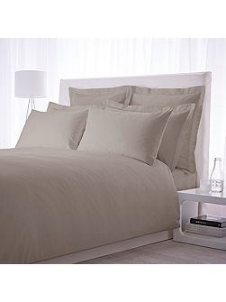 500 TC oxford square pillowcase pair taupe