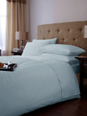 500 thread count bed linen in soft blue