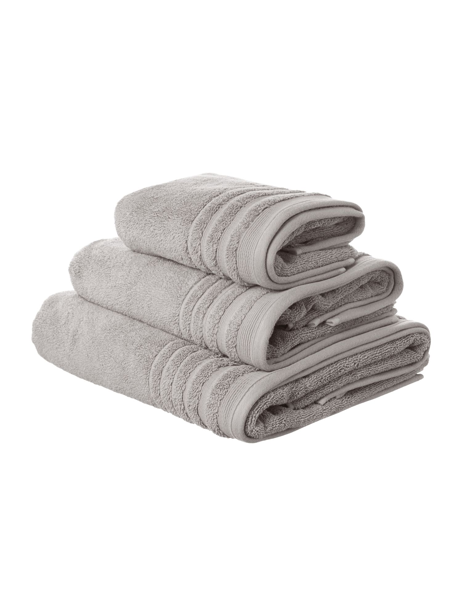 Classic luxury towel range in lunar