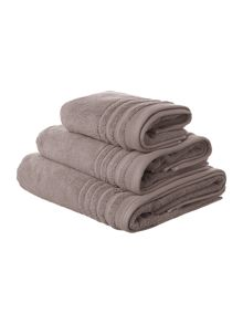 Classic luxury towel range in dove grey