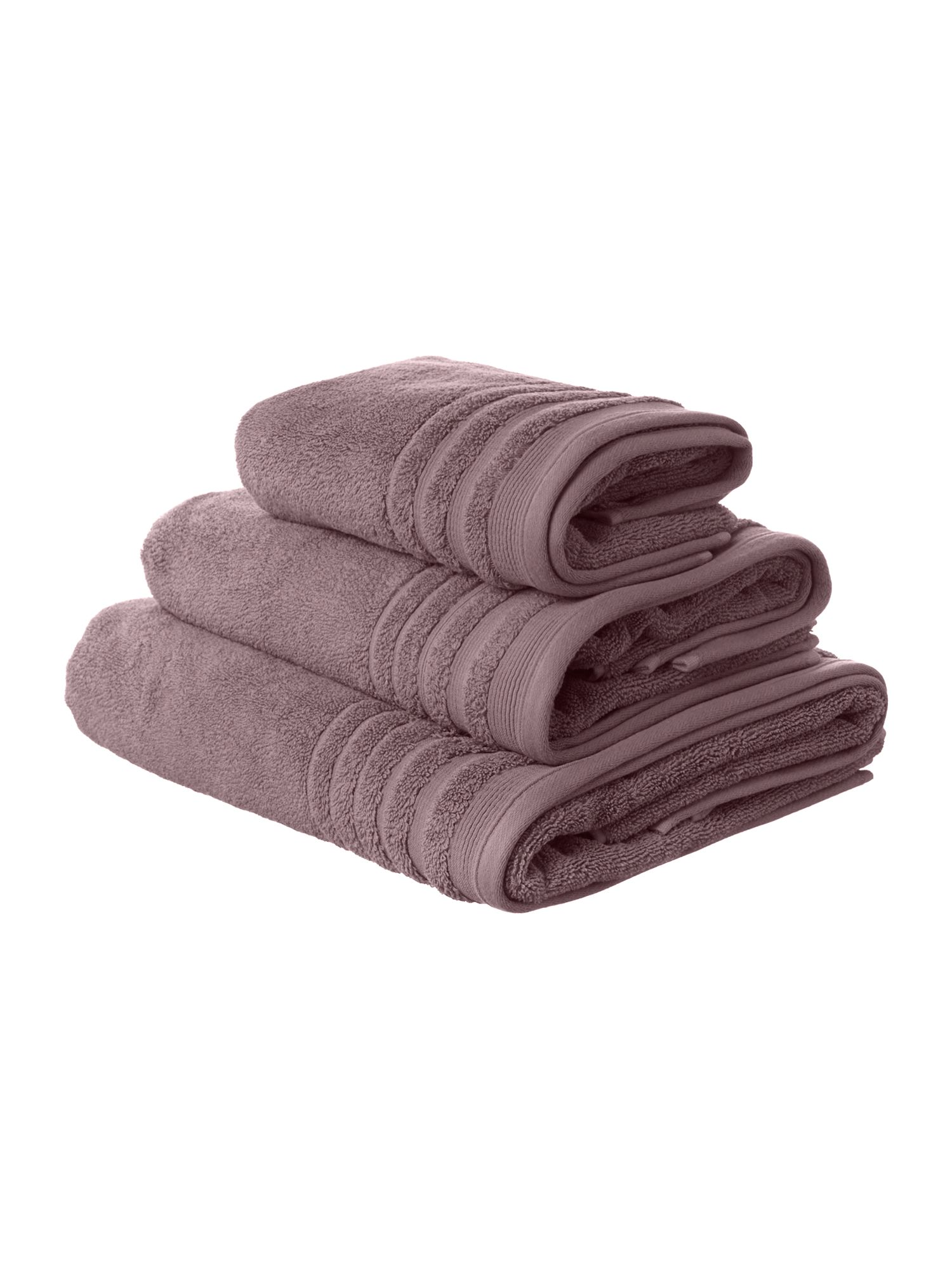 Classic luxury towel range in amethyst