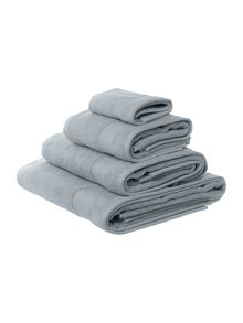 Egyptian cotton towel range in silver