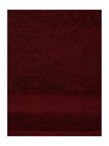 Egyptian cotton towel range in claret