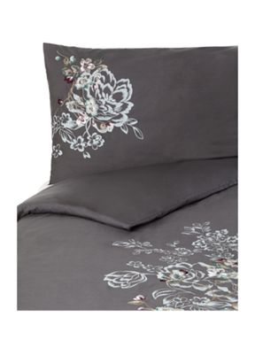 Pied a Terre Shadow floral bedlinen in charcoal