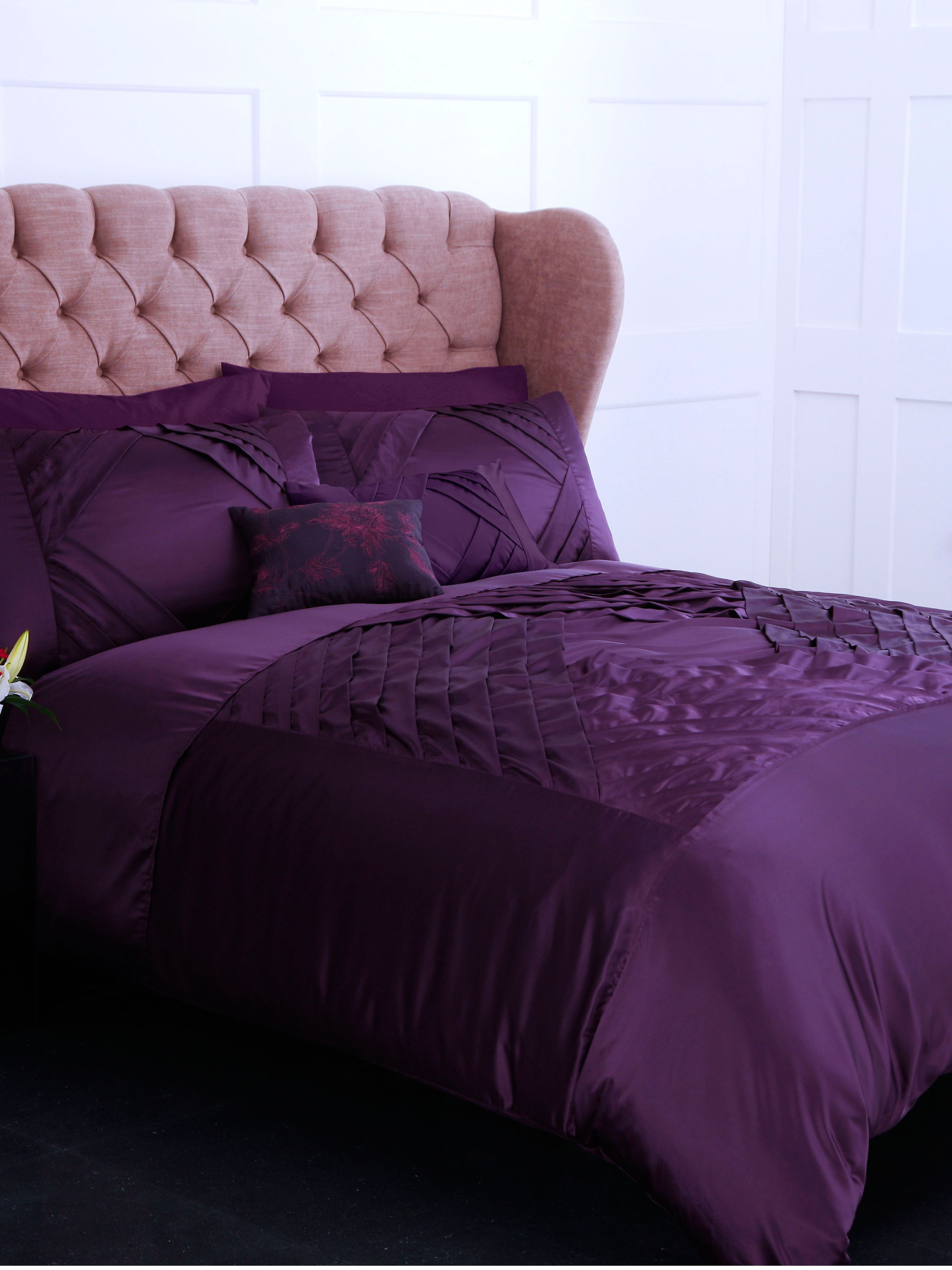 Plum diamond double duvet cover