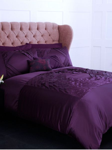 Pied a Terre Plum diamond double duvet cover