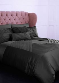 Grey diamond single duvet cover