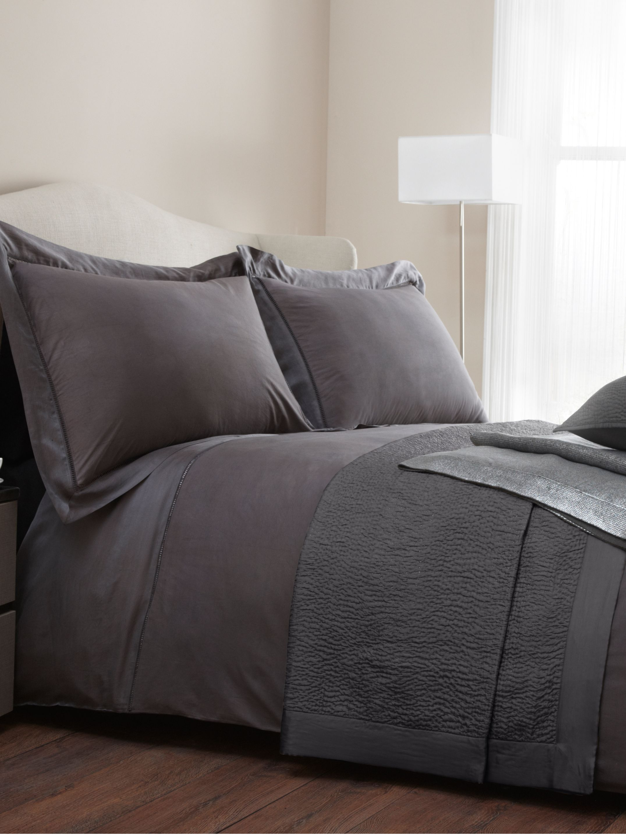 Berwick king duvet cover pewter