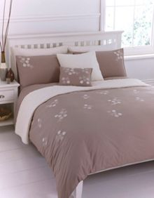 Linea Natural flower duvet set