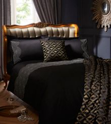 Black sunrise bedlinen