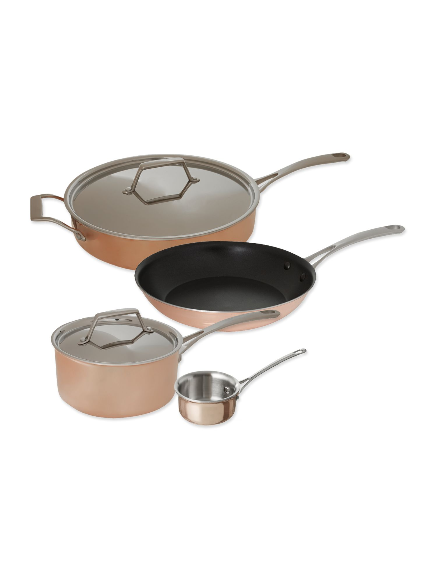 Copper tri ply cookware range