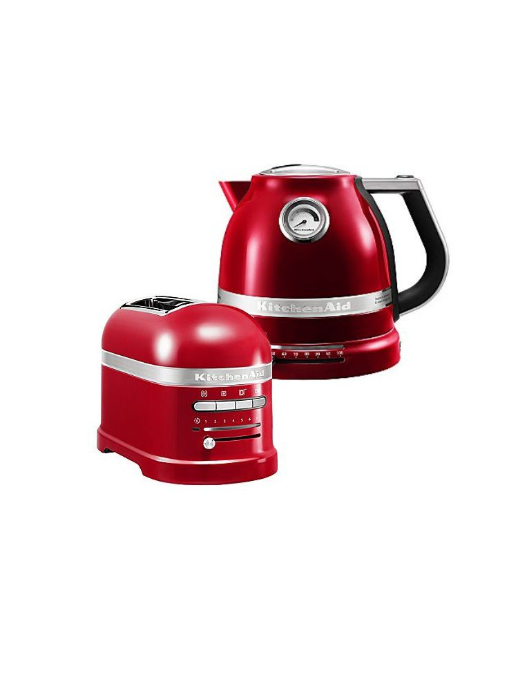 KitchenAid red kitchen appliances