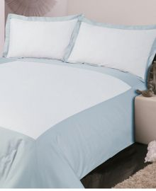 500TC Oxford bed linen in soft blue