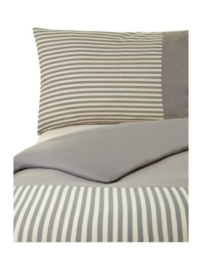 Grey stripe duvet set
