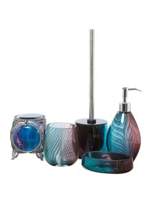 Ombre glass bathroom acessories