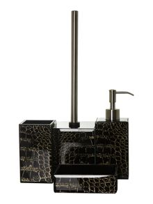 Biba Snakeskin glass bath accessories