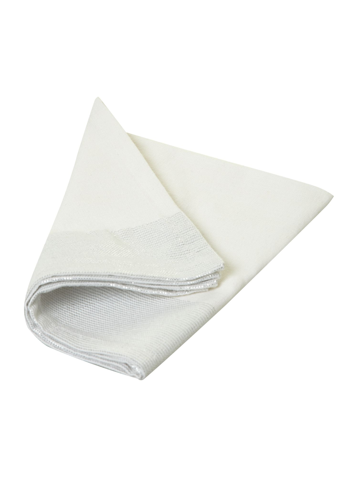 White sparkle tablelinen