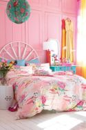 Oriental flower bed linen sets in pink