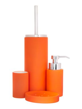 Linea Soft touch bath accessories in flame