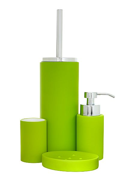 linea soft touch bath accessories in lime house of fraser bathroom accessories lime green