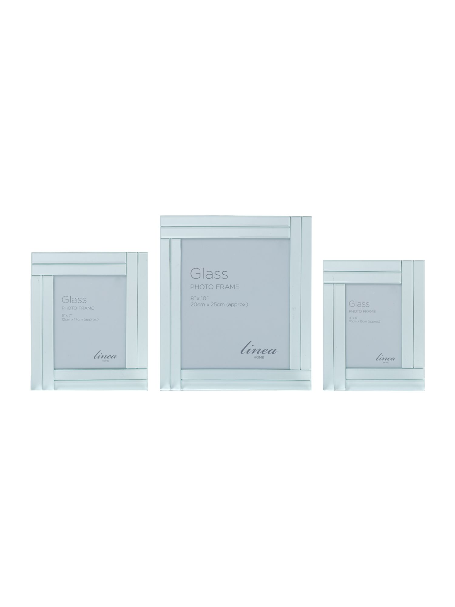 Double bevel mirror frame range