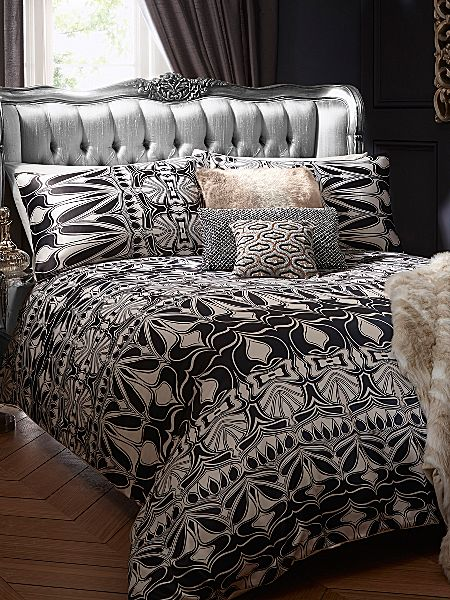 Biba Nouveau Bed Linen In Black And Ivory House Of Fraser