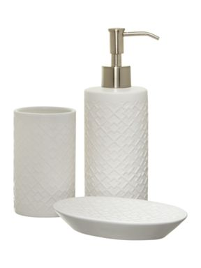 Living by Christiane Lemieux 3D geometric bathroom accessories