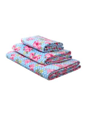 Linea Pretty floral towels in blue