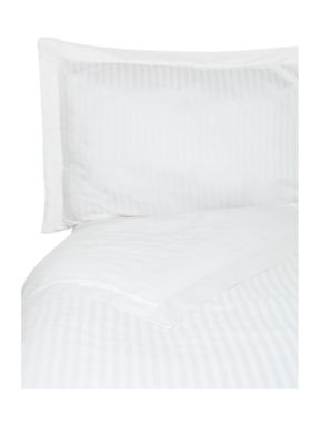 Luxury Hotel Collection Satin stripe duvet cover set in white
